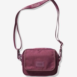 PINK CROSSBOBY BURGUNDY BAG